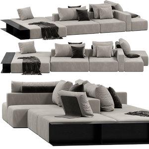 3D model poliform westside divano sofa