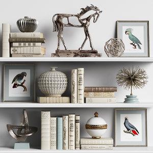 set decor sculptures 3D model