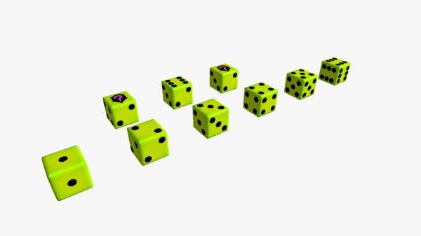 3D dice fake