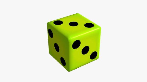 3D fake dice 3