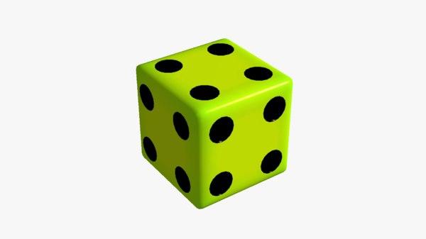 fake dice 4 3D
