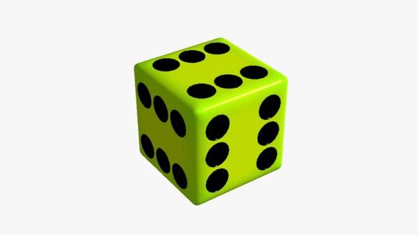 3D model fake dice 6