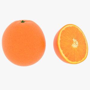 realistic orange 3D model