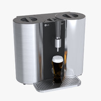 3D photoreal brewing machine lg model