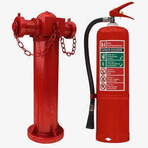 3D fre extinguisher hydrant