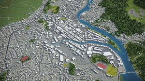 3D model whangarei surrounding -