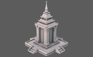 temple pagoda v07 3D model