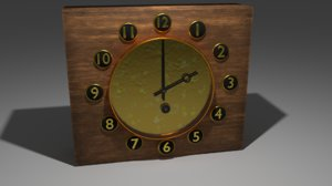 3D retro watch model