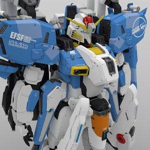 3D ex-s gundam