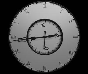 clock animation 3D