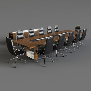 luxembourg meeting table 3D
