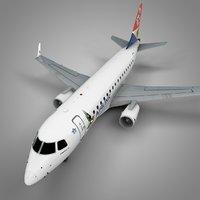 airlink embraer170 l422 3D model