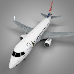 airlink embraer170 l422 3D model