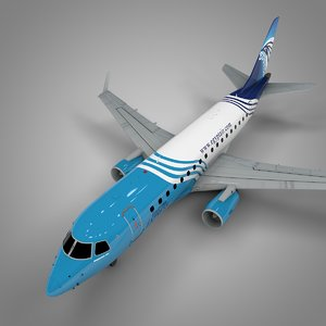 3D egyptair express embraer170 l394