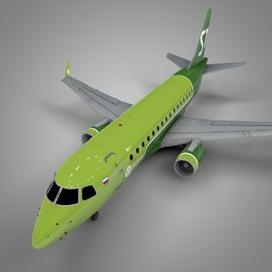 s7 airlines embraer170 l392 3D model