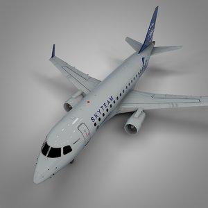 aeromexico skyteam embraer170 l389 3D