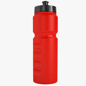 3D sport bottle 750 model
