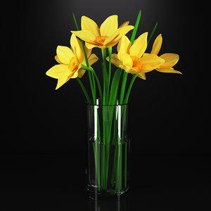 vase plant flower 3D model