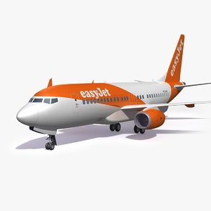 easyjet airliner airplane model