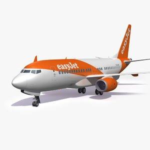 easyjet airliner airplane model