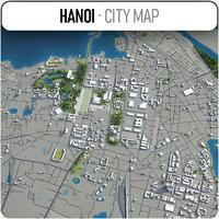 hanoi surrounding - 3D model