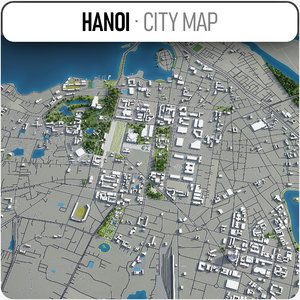 hanoi surrounding - 3D model