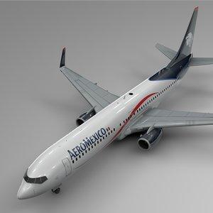 aeromexico boeing 737-800 l440 model