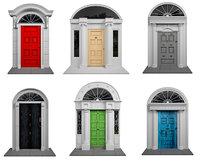 door exterior colored 3D model