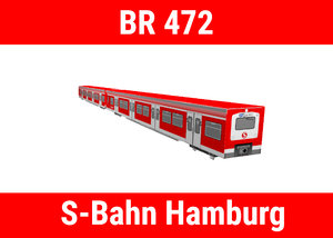 lhb baureihe 472 hamburg 3D model