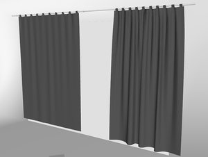 curtains02 bigger marvelous designer model