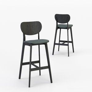 architectural visualization jaicer bar stool 3D model