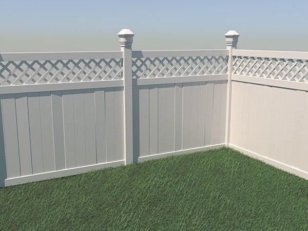 3D vinyl fence model