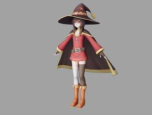 megumin girl 3D model