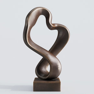 modern decorative abstract bronze 3D model