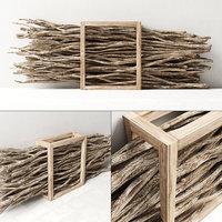 branch wood firewood 3D model