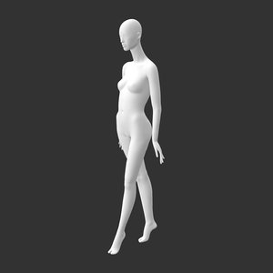 female mannequin abstract heeled 3D