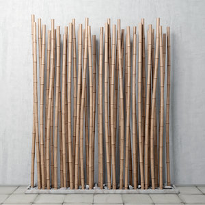 3D decor bamboo model