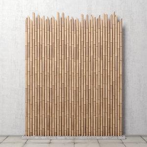 decor bamboo 3D model