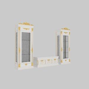 armoire closet chifforobe 3D model