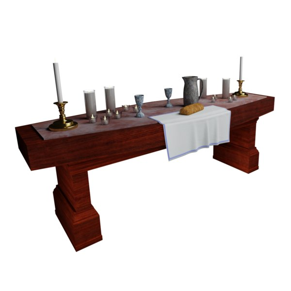 church communion table 3D