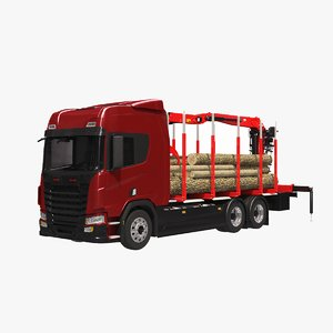 3D model generic logging truck