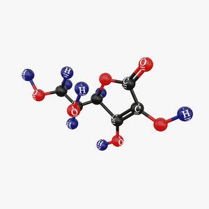 vitamin c-molecular 3D model