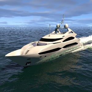 sunseeker yacht 3D model
