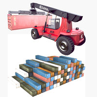 3D reach stacker container