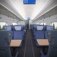 ICE 4 Speed Train Cabin and Cockpit