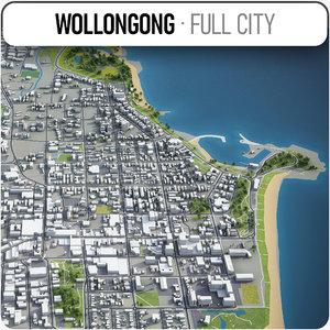 wollongong surrounding - 3D