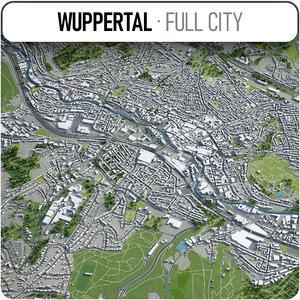 wuppertal surrounding - 3D model