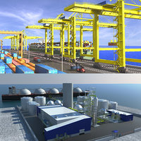 port sea refinery 3D