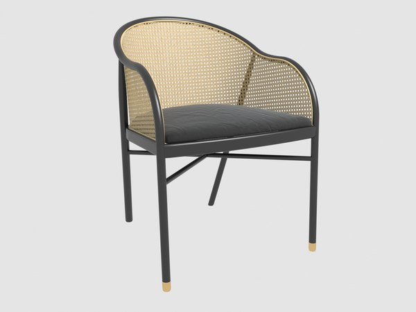 3D pampa rattan chair mondo model