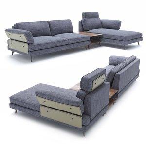 3D model victor sofa